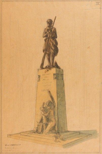 Albert CHEURET (1884 – 1966)  Projet de monument...