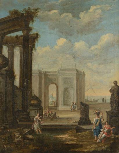 Ecole HOLLANDAISE vers 1700, entourage de...