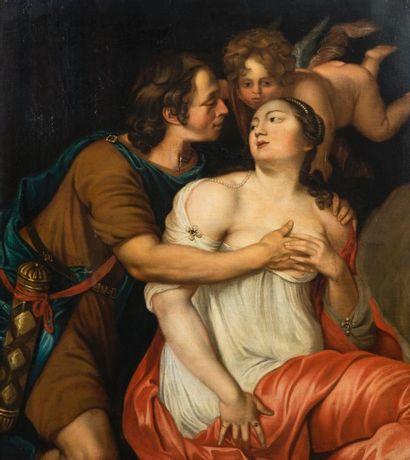 Ecole FLAMANDE vers 1670, entourage de Thomas WILLEBOIRTS BOSSCHAERT  Venus et Adonis...