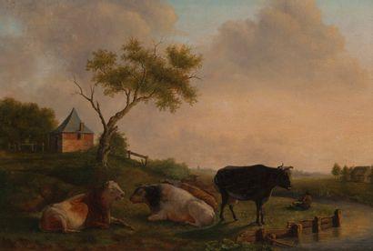 Ecole HOLLANDAISE du début du XIXème siècle,...