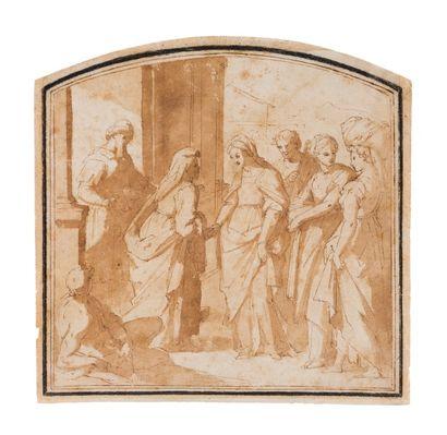 Ecole italienne du XVIème siècle  La Visitation...