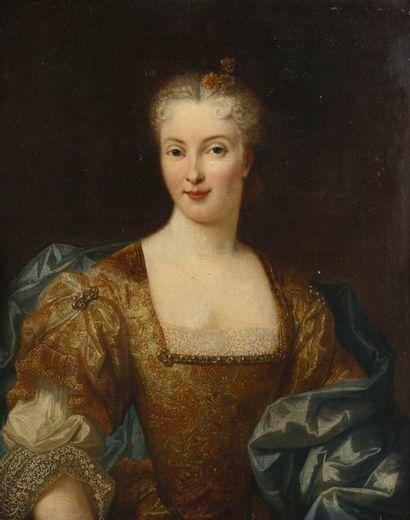 Ecole FRANCAISE vers 1730  Portrait de femme...