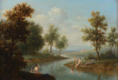 Ecole FRANCAISE vers 1800  Les baigneuses...