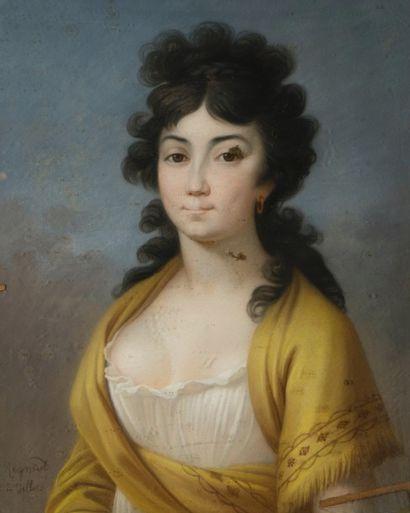 REGNAUT de VILLERS  (Actif vers 1820)  Portrait...