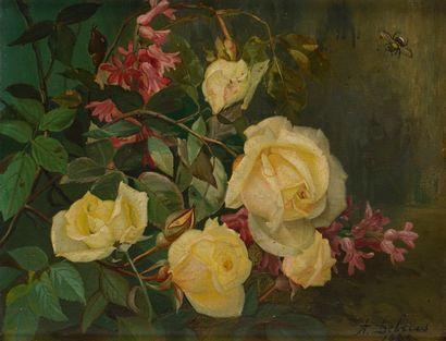 Alexandre DEBRUS (1843 - 1905)  Jetée de...