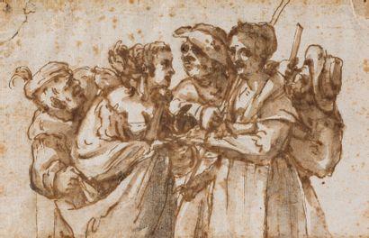Ecole florentine du XVIIème siècle  La diseuse...