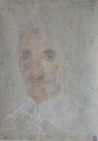 Ecole française vers 1630  Portrait d'homme...
