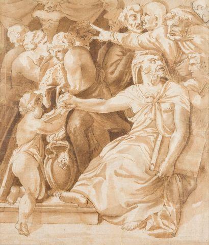 Ecole italienne vers 1600  Scène d'après...