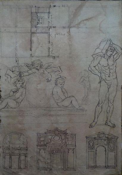 Ecole française du XVIIème siècle  Relevé...