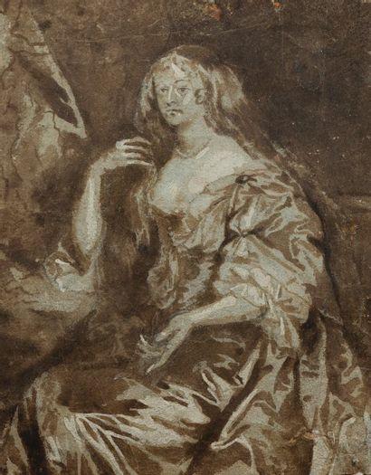 Ecole flamande du XVIIème siècle  Portrait...