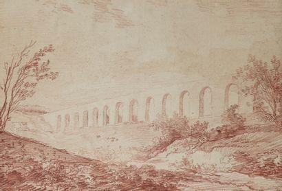 Hubert ROBERT (Paris 1733 - 1808)  Vue de...