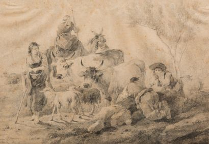 Attribué à Jean PILLEMENT (Lyon 1728 – 1808)...