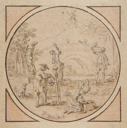 Attribué à Hubert François Bourguignon GRAVELOT...