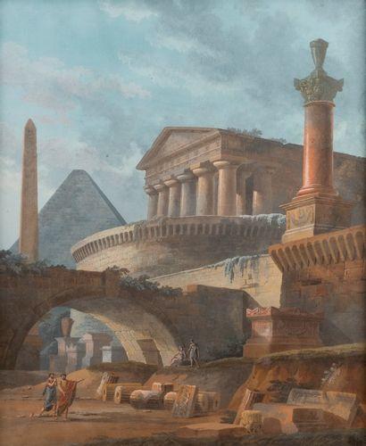 DE LA FONTAINE (actif vers 1800)  Projet...