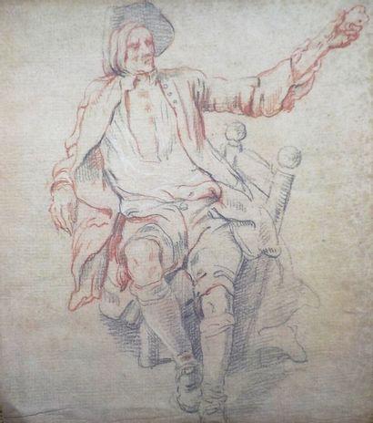 Ecole française du XVIIIème siècle  Etude...