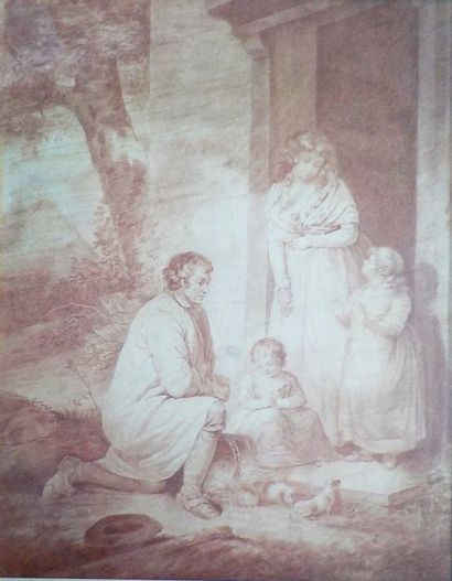Georges MORLAND (Londres 1763 - 1804)  Famille...
