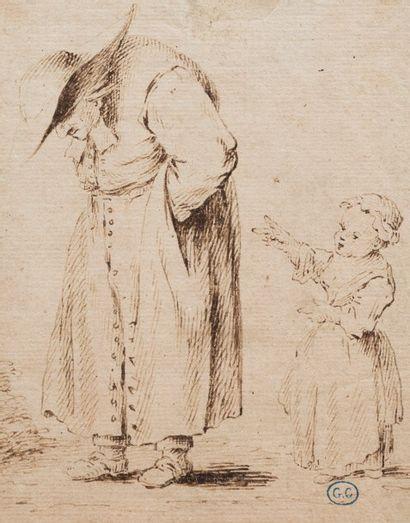 Ecole française du XVIIIème siècle  Le vieux...