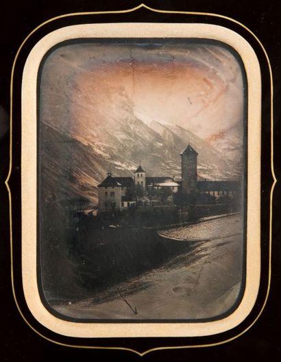 Attribué à Camille BARNABE (1808-?), ou Daniel DOLLFUSS-AUSSET (1797-1870)<br> Hospice de Grimsel, G