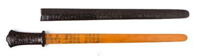 Epee votive en bois<br>Chine, XVIIIe siècle