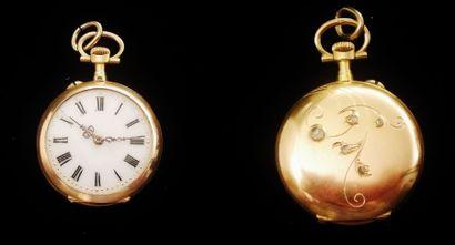 Une montre gousset en or jaune 18 K (750°/°°),...