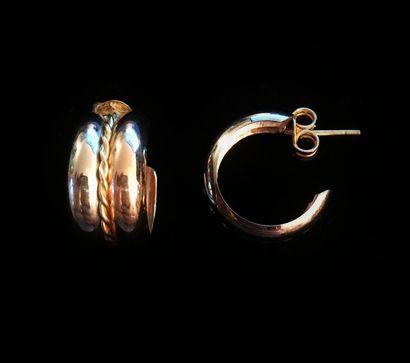 Paire de boucles d'oreilles en or 18 K (750°/°°)...