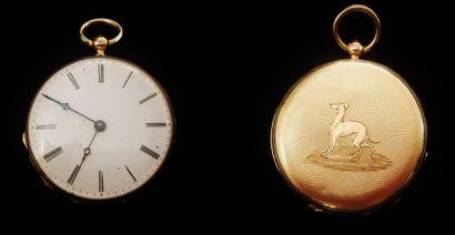 Petite montre gousset, en or jaune 18 K (750°/°°),...