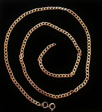 Chaine en or 18 K (750°/°°)  Poids : 7 gr....