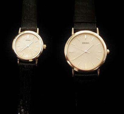 SEIKO  Lots d'une montre de dame et une montre...