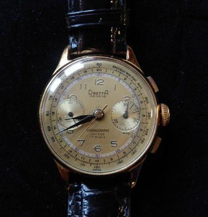 DREFFA - Genève  Montre chronographe d'homme,...
