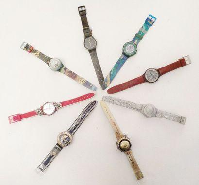 SWATCH  Fort lot de montres dans leurs coffrets d'origine comprenant :  - BENGALA,...