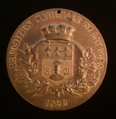 Exposition Nationale de Limoges 1922  Médaille...