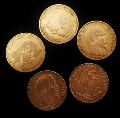 5 x 20 francs or  1786A ; 1858A ; 1859B ;...
