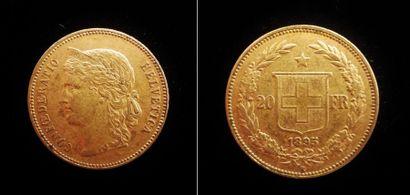 1 x 20 francs suisse  1895 B