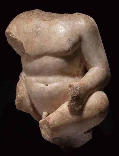 TEMPLE BOY ASSIS A ROMAN MARBLE TORSO OF...