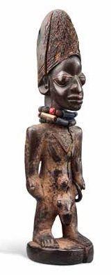 STATUE YOROUBA IBEJI YORUBA TWIN FIGURE NIGERIA...