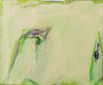 Olivier DEBRE (1920-1999)  L'ocre du jardin, Cachan, 1974  Huile sur toile signée,...