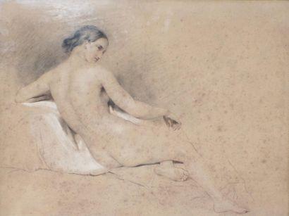 Ecole FRANCAISE du XIXème siècle  Femme nue...