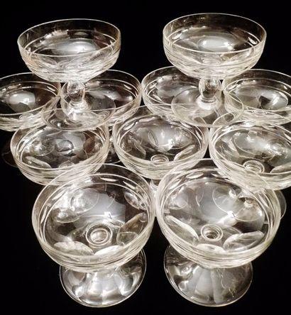 BACCARAT  Service de verres comprenant :...