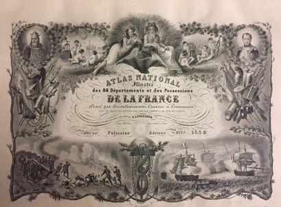 Atlas national illustré des 86 départements...