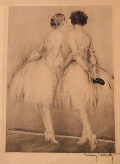 Louis ICART (1888 - 1950)  Danseuses  Eau-forte...