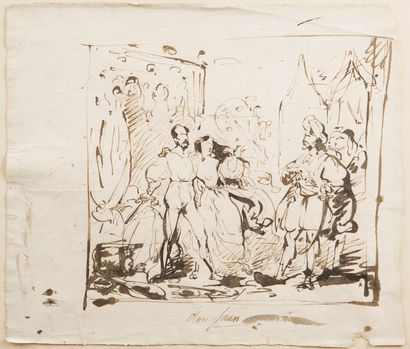 Attribué à Louis BOULANGER (Verceil 1806...