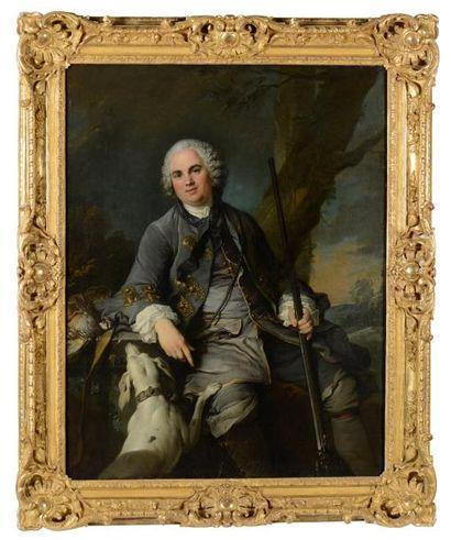 Louis TOCQUE  (Paris 1696 - 1772)  Portrait de Pierre Simon Mirey, Secrétaire du...