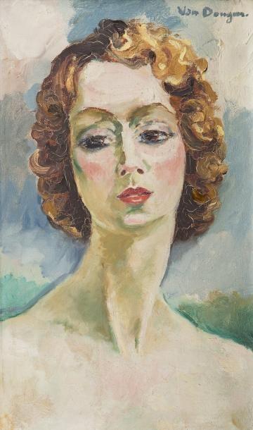 Kees VAN DONGEN (Delfshaven 1877 - Monaco 1968) Portrait de Madame Gigandet, circa...
