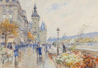 Georges STEIN ( Paris 1870 - 1955)  Marché...
