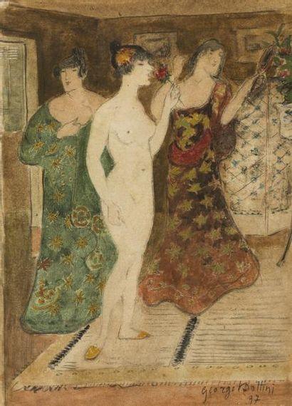 George BOTTINI (Paris 1874 - 1907) Trois...