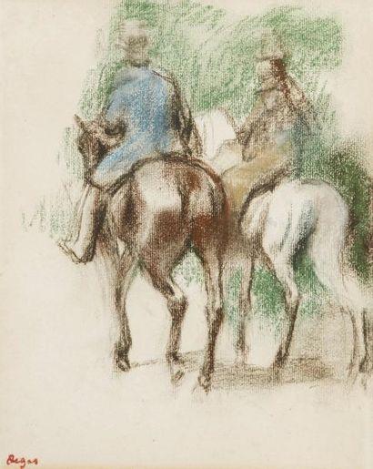 *Edgar DEGAS (Paris 1834 - 1917) Cavalier...