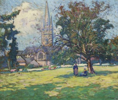 Paul MADELINE (Paris 1863 - 1920)  Paysasge...