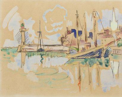 Paul SIGNAC (Paris 1863 - 1935)  Vue du port...