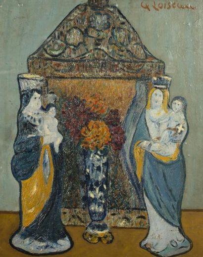 Gustave LOISEAU (Paris 1865-1935)  Faiences bretonnes vers 1916  Huile sur panneau...