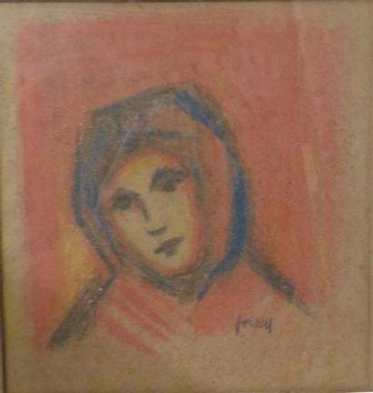 Ecole Anglaise du XXème siècle  Portrait...